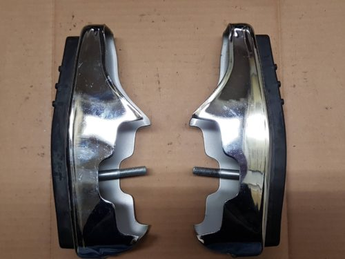 (NEW) 133 707 155 Bumper guards with rubber, pair