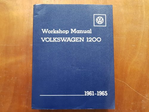LPV800121 Workshop Manual VW 1200 61-65